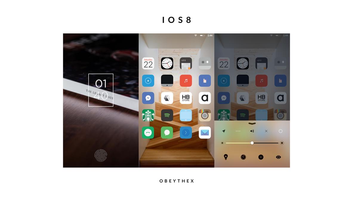 IOS 8 by Obeythe10