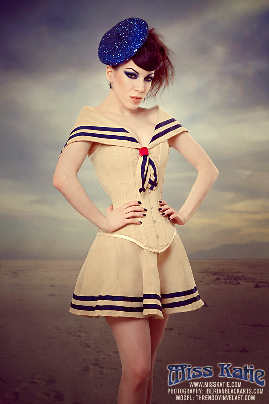 Vintage Sailor corset by ladymorgana