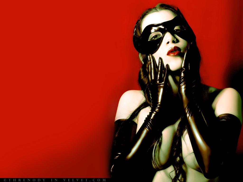 Threnody in Velvet Masked wall by ladymorgana