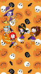 Sailor Sun Halloween chibi's by goldenbrush94