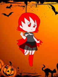 Sailor sun Halloween chibi Vampire rin maguro by goldenbrush94