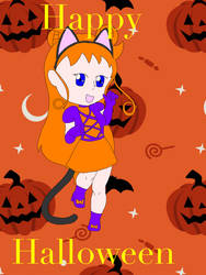 Sailor sun Halloween chibi Kurai by goldenbrush94