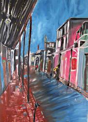 Bourbon Street Painting by RedShutterOrleans
