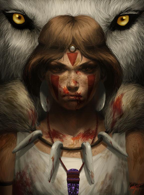 Princess Mononoke by cathyrox