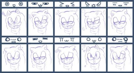 Emotion Meme: Sonic by Kawaii4eva