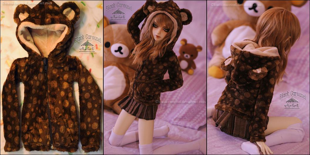 FS: Choco Bear Hoodie by kuroi-carousel