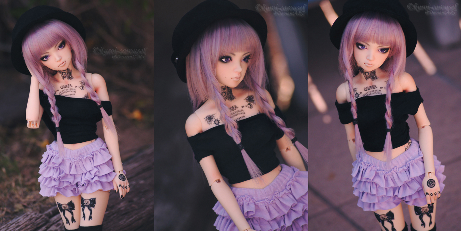 Purple hair, don't care