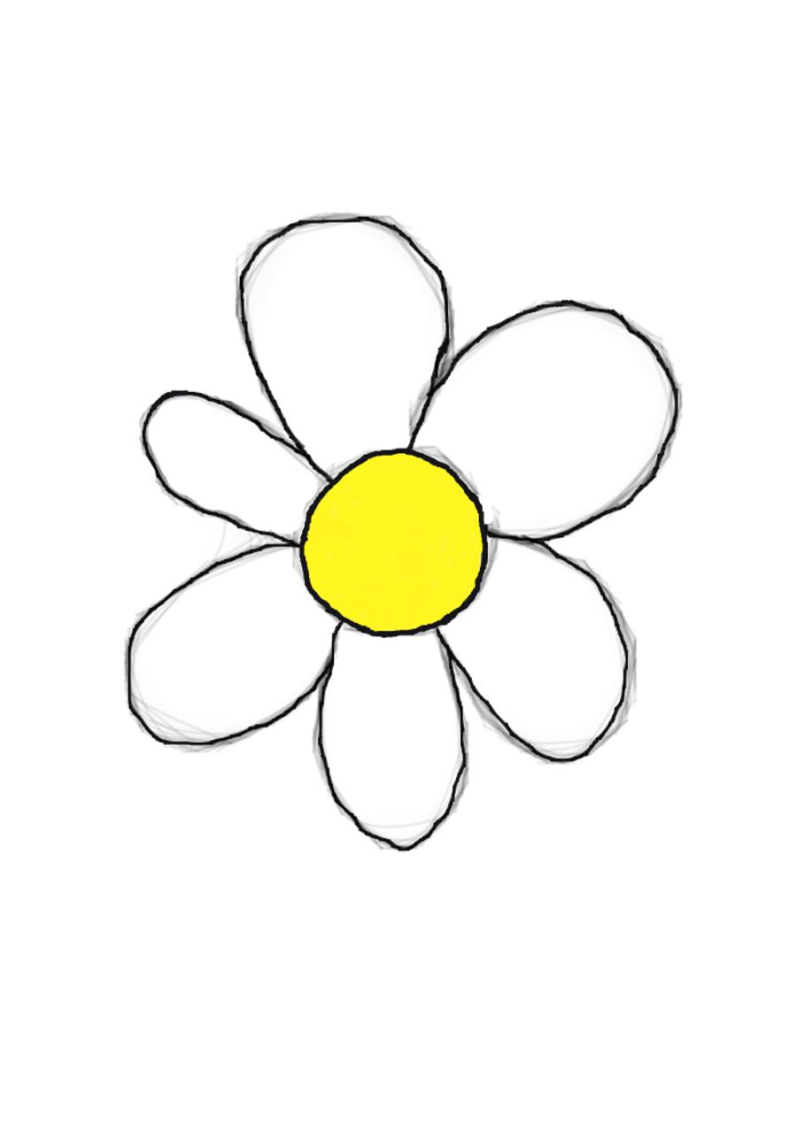 Cute Flower Line Drawing : Cute flowers drawings tumblr flower
