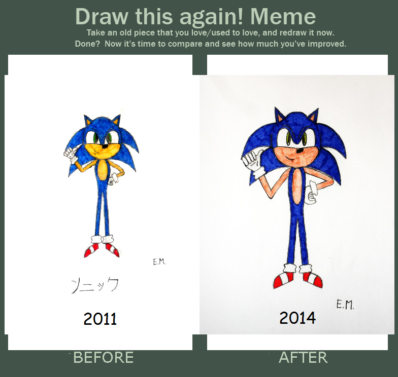 Draw This Again Meme Sonic The Hedgehog By Gallerica On Deviantart