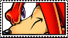 Knuckles The Echidna stamp by Gallerica