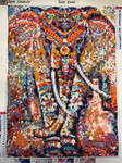Diamond painting - Elephant with thousands colours by Gallerica