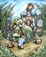 Link and Ganondorf by Chivohit