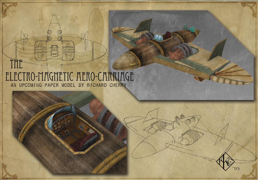Electro-Magnetic Aero-Carriage by SiriusArtWorks