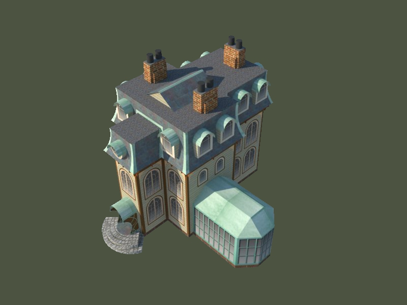 Victorian house paper model