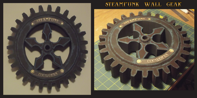 Steampunk Wall Gear Papercraft