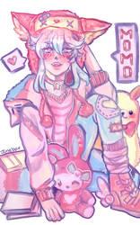 Momo: Art trade by JuneBoxArt