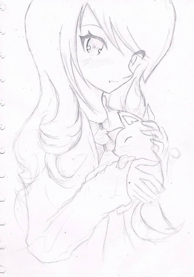 Fox Girl Drawing