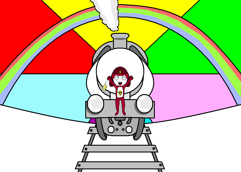 Giroro Likes Trains by Idellechi