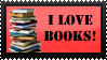 Book Love Stamp by Idellechi