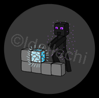 Minecraft Enderman Button 1.5 Inch by Idellechi