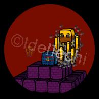 Minecraft Blaze Button 1.5 Inch by Idellechi