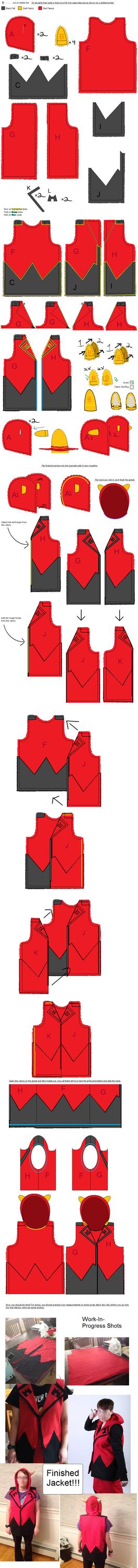 Team Magma Admin Tabitha Jacket Sewing Tutorial by Idellechi