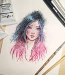 Galactic Hair painting