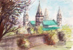 Pecs Cathedral - Watercolor Painting