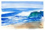 Ocean Waves - Watercolor Painting