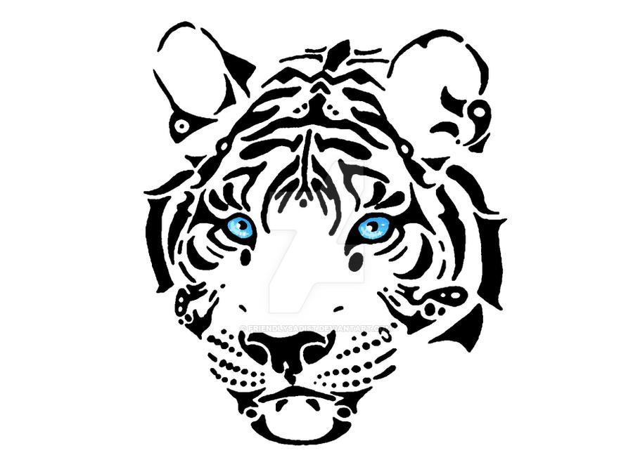 Blue Eyes White Tiger by FriendlySadist on DeviantArt