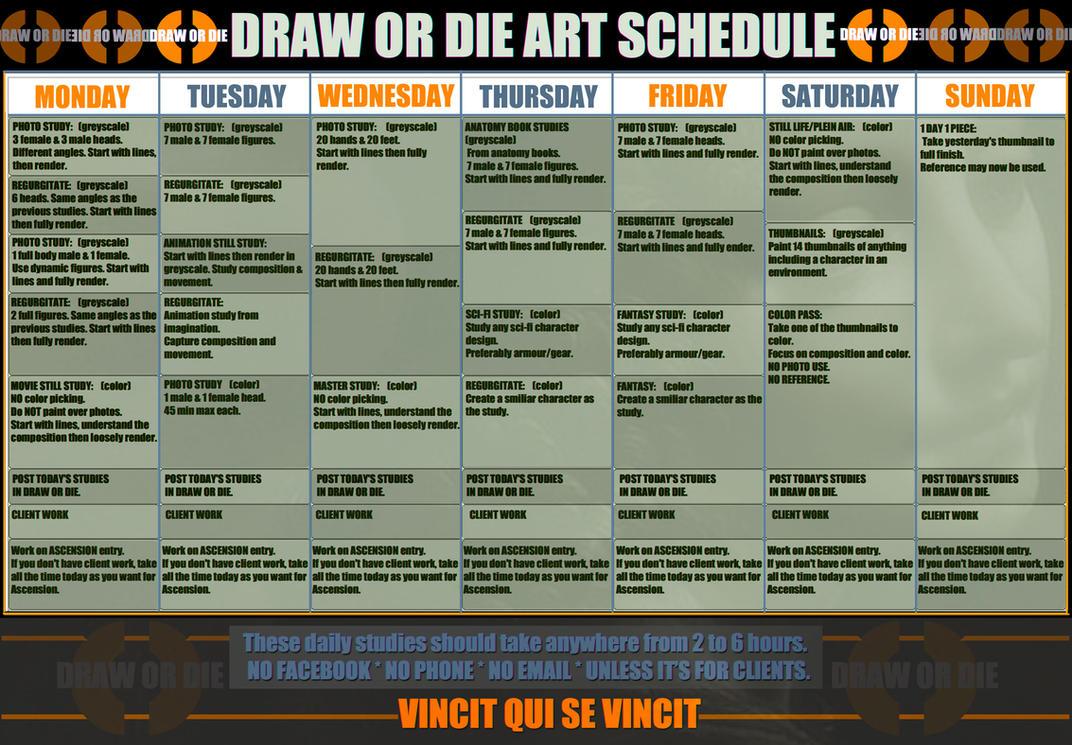 DRAW OR DIE ART CALENDAR by SPARATIK