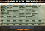 DRAW OR DIE ART CALENDAR