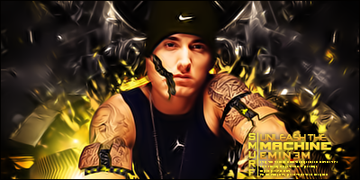 Firmas que me inspiran o inspiraron alguna vez. Unleash_The_Machine___Eminem_by_GfxSmurf
