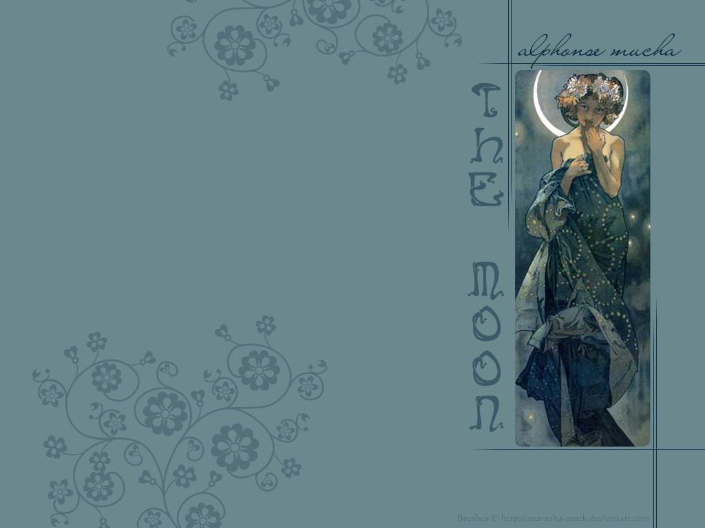 Alphonse Mucha, The Moon by Emhain