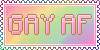 Gay AF Stamp by DaniGhost