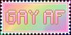 Gay AF Stamp by DominickLuhr