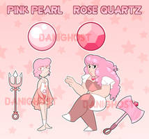 Pink Pearl and Rose Quartz (CLOSED) by DominickLuhr