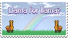 Llama for Llama Stamp (F2U) by DaniGhost
