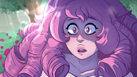 [Fanart] Rose Quartz Screenshot Redraw