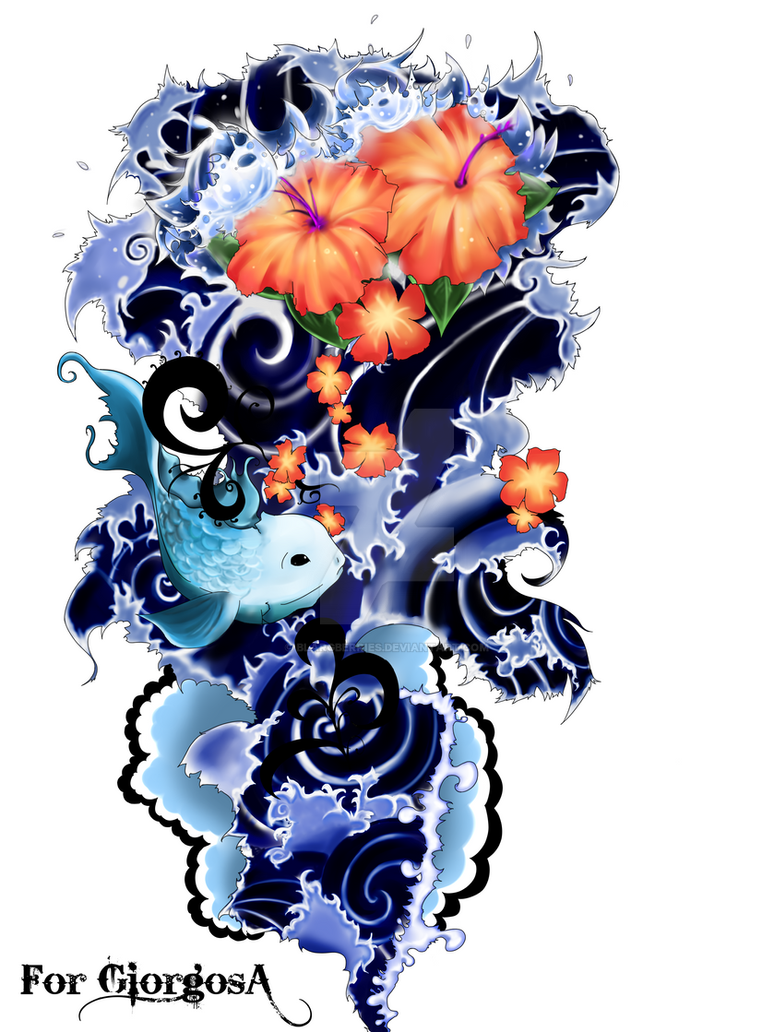 :Commission: Sleeve Tattoo Pt1 by blargberries on DeviantArt