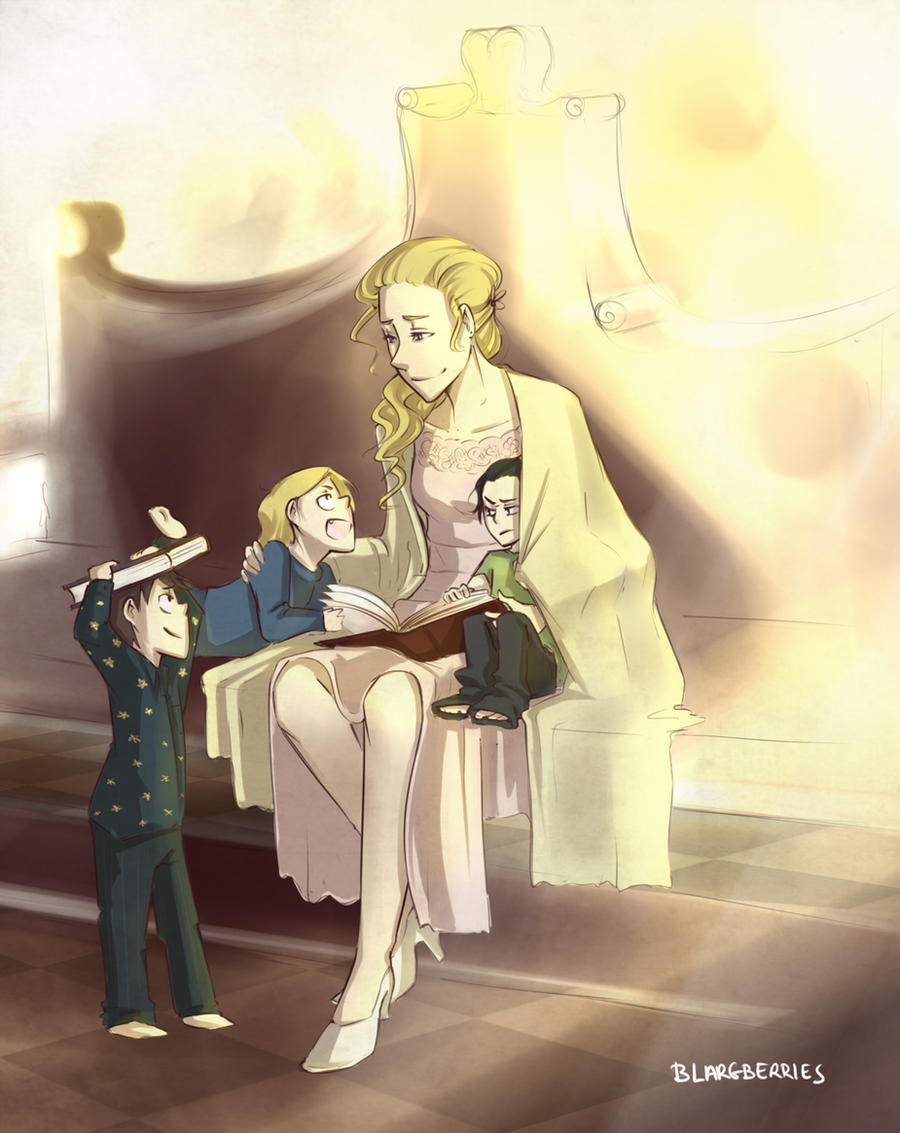 Frigga and Her Sons by blargberries
