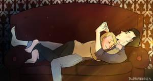 Commiss: Sherlock and John sofa