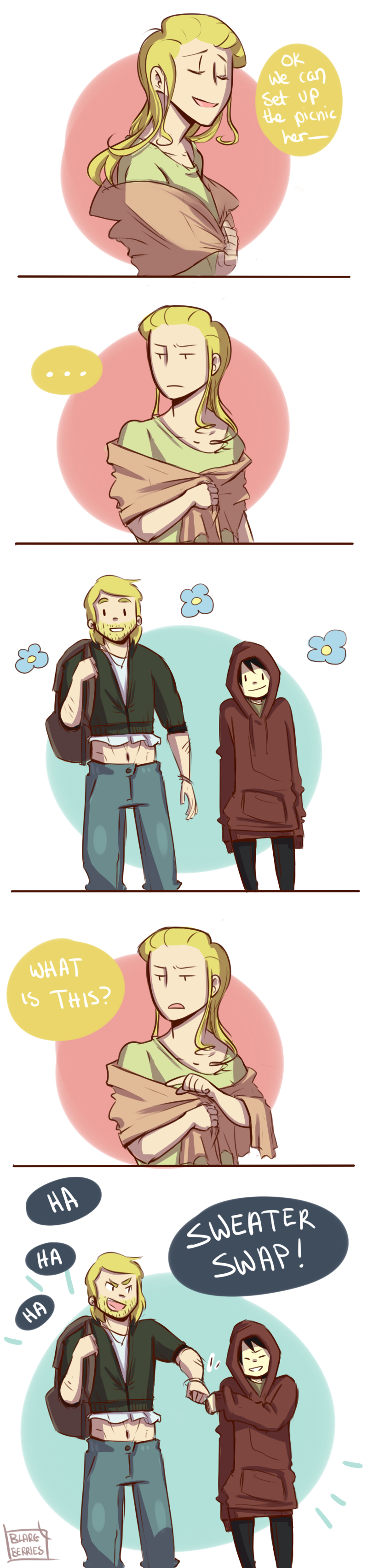 Sweater Swap by blargberries