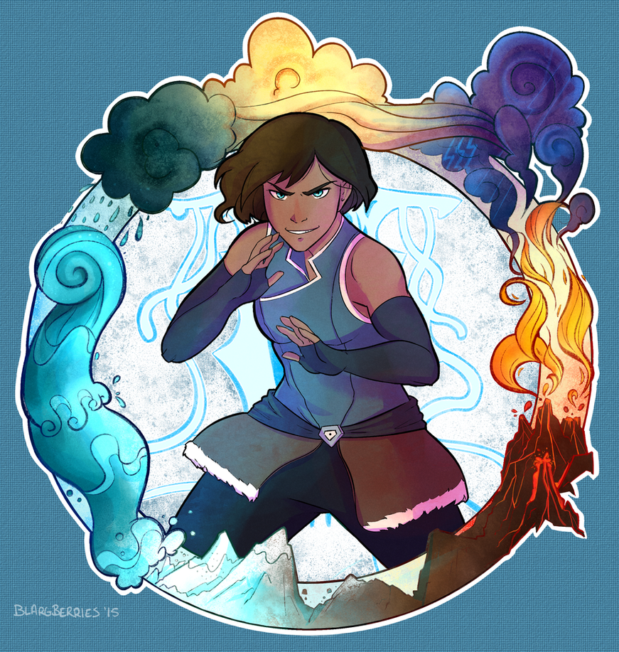 Korra and the Elements by blargberries