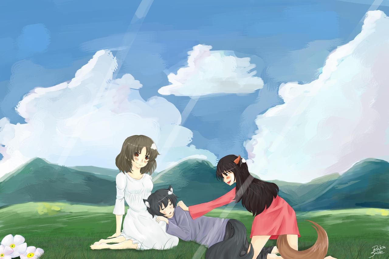 Les Enfants Loups Ame Et Yuki By Baka Saru Nickie On