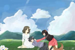 Les enfants Loups Ame et Yuki by baka-saru-nickie