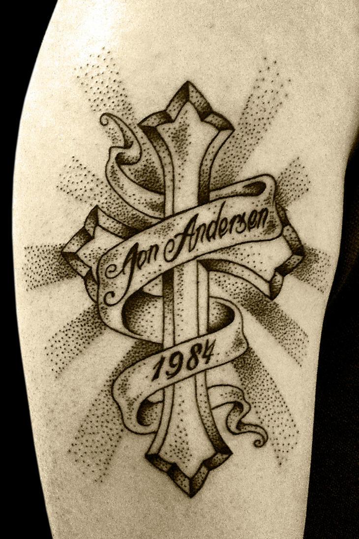 cross and banner by stormpod on deviantart rh stormpod deviantart com Rip Cross with Banner Tattoo Rip Cross with Banner Tattoo