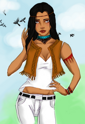 Modern Princess 2012: Pocahontas by natashakelly