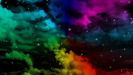 rainbow night sky by jeffeng2091