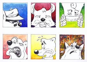 Watercolour icons